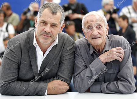 French Glaciologist Claude Lorius (r) and French Director Luc Jacquet (l) Pose During the Photocall For 'La Glace Et Le Ciel' (ice and the Sky) at the 68th Annual Cannes Film Festival in Cannes France 23 May 2015 the Movie is Presented out of Competition at the Festival Which Runs From 13 to 24 May France Cannes