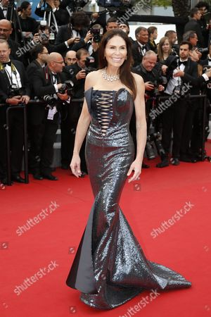 Lebanese-born French Socialite Mouna Ayoub Arrives For the Screening of 'La Glace Et Le Ciel' (ice and the Sky) and the Closing Award Ceremony of the 68th Annual Cannes Film Festival in Cannes France 24 May 2015 the Festival Closes with the Screening of the Movie Presented out of Competition France Cannes