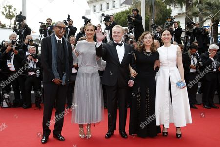 Cinefondation and Short Films Jury Members (l-r) Mauritanian Director Abderrahmane Sissako Belgian Actress Cecile De France Polish Actor Daniel Olbrychski Lebanese Director Jonas Hadjithomas and French Director Rebecca Zlotowski Arrive For the Screening of 'La Glace Et Le Ciel' (ice and the Sky) and the Closing Award Ceremony of the 68th Annual Cannes Film Festival in Cannes France 24 May 2015 the Festival Closes with the Screening of the Movie Presented out of Competition Epa/ian Langsdon France Cannes