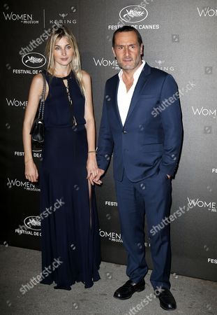 French Actor Gilles Lellouche (l) and Girlfriend French Actress Alizee Guinochet (l) Arrive For the Kering Women in Motion Honor Awards During the 68th Annual Cannes Film Festival in Cannes France 17 May 2014 the Festival Runs From 13 to 24 May France Cap D'antibes