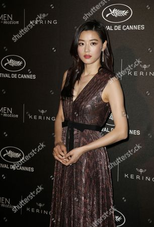 Stock Photo of South Korean Actress Jeon Ji-hyeon Aka Gianna Jun Arrive For the Kering Women in Motion Honor Awards During the 68th Annual Cannes Film Festival in Cannes France 17 May 2014 the Festival Runs From 13 to 24 May France Cap D'antibes
