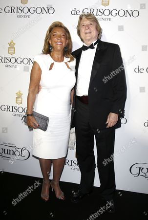Us Songwriter Denise Rich (l) and Peter Cervinka (r) Attend the Party Held by Swiss Jewelry Company De Grisogono at the Hotel Du Cap Eden Roc in Cap D'antibes France 19 May 2015 During the 68th Annual Cannes Film Festival the Festival Runs From 13 to 24 May France Cap D'antibes