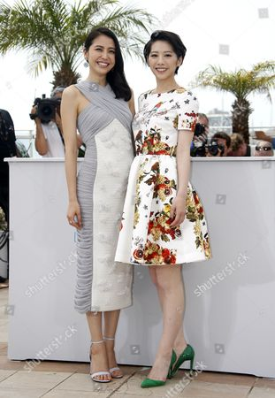 Japanese Actress Masami Nagasawa (l) and Japanese Actress Kaho (r) Pose During the Photocall For 'Umimachi Diary' (our Little Sister) at the 68th Annual Cannes Film Festival in Cannes France 14 May 2015 the Movie is Presented in the Official Competition of the Festival Which Runs From 13 to 24 May France Cannes