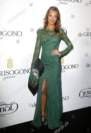 Italian Actress Alessia Tedeschi Attends the Party Held by Swiss Jewelry Company De Grisogono at the Hotel Du Cap Eden Roc in Cap D'antibes France 19 May 2015 During the 68th Annual Cannes Film Festival the Festival Runs From 13 to 24 May France Cap D'antibes