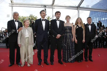 Stock Picture of (l-r) Italian Actress Giulia Lazzarini Us Actor John Turturro Italian Director Nanni Moretti Italian Actress Margherita Buy Italian Actress Beatrice Mancini and Guests Arrive For the Screening of 'Mia Madre' (my Mother) During the 68th Annual Cannes Film Festival in Cannes France 16 May 2015 the Movie is Presented in the Official Competition of the Festival Which Runs From 13 to 24 May France Cannes
