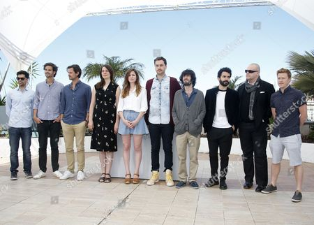 (l-r) Palestinian Director Basil Khaul Belgian Directors Raf Roosens Jan Roosens British Director Eva Riley French Director Celine Devaux Argentine Director Iair Said Turkish Director Ziya Demirel Lebanese Director Director Ely Dagher Australian Director Shane Danielsen and British Director Dan Hodgson Pose During the Short Film Directors Photocall at the 68th Annual Cannes Film Festival in Cannes France 22 May 2015 the Festival Runs From 13 to 24 May France Cannes