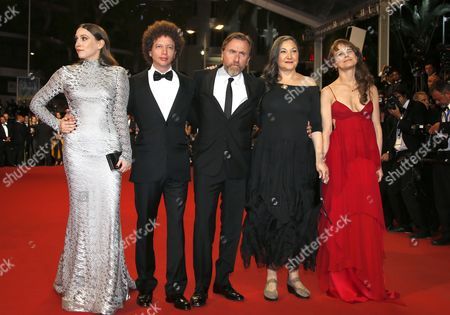 (l-r) Us Actress Sarah Sutherland Mexican Director Michel Franco British Actor Tim Roth Us Actress Robin Bartlett and Mexican Actress Nailea Norvind Arrive For the Screening of 'Chronic' During the 68th Annual Cannes Film Festival in Cannes France 22 May 2015 the Movie is Presented in the Official Competition of the Festival Which Runs From 13 to 24 May France Cannes