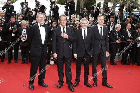 (2l-r) French Actor Vincent Lindon French Director Stephane Brize Producer Christophe Rossignon and Guest Arrive For the Screening of 'La Glace Et Le Ciel' (ice and the Sky) and the Closing Award Ceremony of the 68th Annual Cannes Film Festival in Cannes France 24 May 2015 the Festival Closes with the Screening of the Movie Presented out of Competition France Cannes
