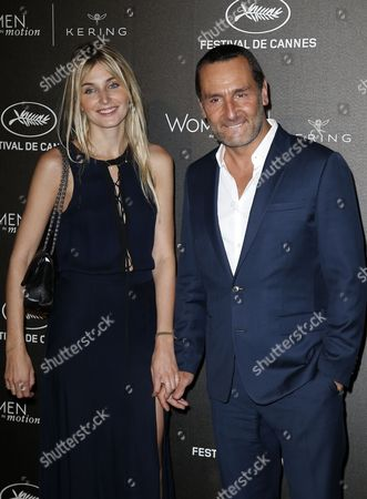 French Actor Gilles Lellouche (l) and Girlfriend French Actress Alizee Guinochet Arrive For the Kering Women in Motion Honor Awards During the 68th Annual Cannes Film Festival in Cannes France 17 May 2014 the Festival Runs From 13 to 24 May France Cap D'antibes