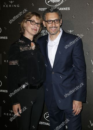 Us Actor John Turturro (r) and Wife Katherine Borowitz (l) Arrive For the Kering Women in Motion Honor Awards During the 68th Annual Cannes Film Festival in Cannes France 17 May 2014 the Festival Runs From 13 to 24 May France Cap D'antibes