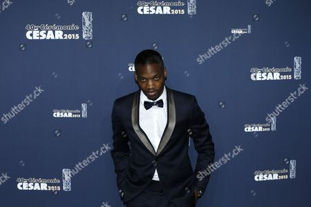 French Actor Ahmed Drame Arrives For the 40th Annual Cesar Awards Ceremony Held at the Chatelet Theatre in Paris France 20 February 2015 France Paris