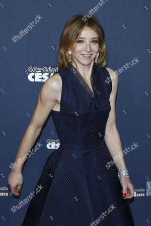 French Actress Sylvie Testud Arrives For the 40th Annual Cesar Awards Ceremony Held at the Chatelet Theatre in Paris France 20 February 2015 France Paris