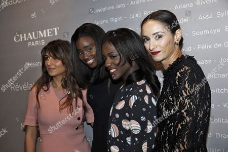 (l-r) French Actresses Geraldine Nakache Karidja Toure Assa Sylla and Rachida Brakni Pose For the Photographers During a Photocall For the Cesars 'Revelations 2015' Evening at the Salons Chaumet in Paris France 12 January 2015 the Event Organized by the French Academy of Cinema Arts and Techniques' Newcomers Committee and the Governing Board Presents the Best New Young Actors and Actresses the 40th Annual Cesar Awards Ceremony is Held on 20 February France Paris