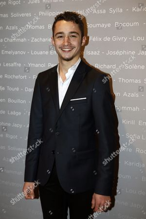 Stock Image of French Actor Jules Ritmanic Poses For the Photographers During a Photocall For the Cesars 'Revelations 2015' Evening at the Salons Chaumet in Paris France 12 January 2015 the Event Organized by the French Academy of Cinema Arts and Techniques' Newcomers Committee and the Governing Board Presents the Best New Young Actors and Actresses the 40th Annual Cesar Awards Ceremony is Held on 20 February France Paris