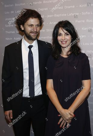 French Actor Pierre Rochefort (l) and French Actress-director Zabou Breitman Pose For the Photographers During a Photocall For the Cesars 'Revelations 2015' Evening at the Salons Chaumet in Paris France 12 January 2015 the Event Organized by the French Academy of Cinema Arts and Techniques' Newcomers Committee and the Governing Board Presents the Best New Young Actors and Actresses the 40th Annual Cesar Awards Ceremony is Held on 20 February France Paris