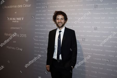 French Actor Pierre Rochefort Poses For the Photographers During a Photocall For the Cesars 'Revelations 2015' Evening at the Salons Chaumet in Paris France 12 January 2015 the Event Organized by the French Academy of Cinema Arts and Techniques' Newcomers Committee and the Governing Board Presents the Best New Young Actors and Actresses the 40th Annual Cesar Awards Ceremony is Held on 20 February France Paris