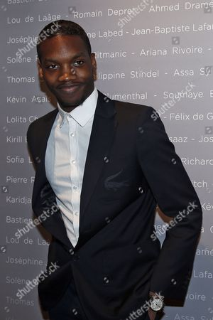 French Actor Ahmed Drame Poses For the Photographers During a Photocall For the Cesars 'Revelations 2015' Evening at the Salons Chaumet in Paris France 12 January 2015 the Event Organized by the French Academy of Cinema Arts and Techniques' Newcomers Committee and the Governing Board Presents the Best New Young Actors and Actresses the 40th Annual Cesar Awards Ceremony is Held on 20 February France Paris