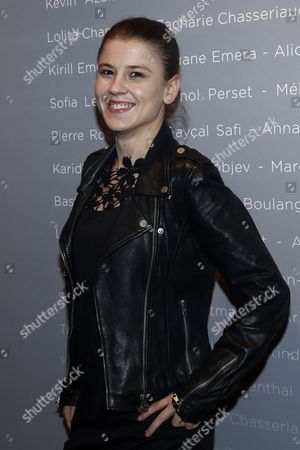 French Actress Ariana Rivoire Poses For the Photographers During a Photocall For the Cesars 'Revelations 2015' Evening at the Salons Chaumet in Paris France 12 January 2015 the Event Organized by the French Academy of Cinema Arts and Techniques' Newcomers Committee and the Governing Board Presents the Best New Young Actors and Actresses the 40th Annual Cesar Awards Ceremony is Held on 20 February France Paris
