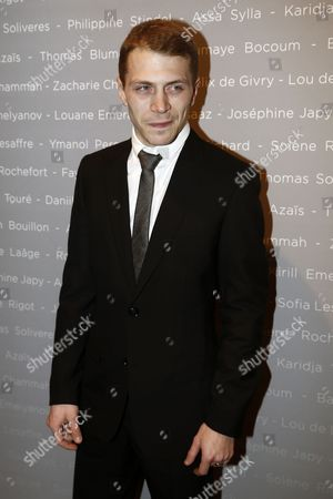 French Actor Kevin Azais Poses For the Photographers During a Photocall For the Cesars 'Revelations 2015' Evening at the Salons Chaumet in Paris France 12 January 2015 the Event Organized by the French Academy of Cinema Arts and Techniques' Newcomers Committee and the Governing Board Presents the Best New Young Actors and Actresses the 40th Annual Cesar Awards Ceremony is Held on 20 February France Paris