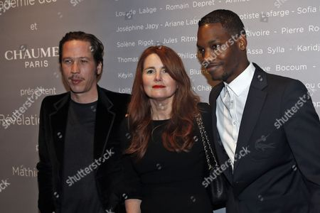 French Actors Ahmed Drame (r) and Reda Kated (l) and French Director Marie-castille Mention Schaar (c) Pose For the Photographers During a Photocall For the Cesars 'Revelations 2015' Evening at the Salons Chaumet in Paris France 12 January 2015 the Event Organized by the French Academy of Cinema Arts and Techniques' Newcomers Committee and the Governing Board Presents the Best New Young Actors and Actresses the 40th Annual Cesar Awards Ceremony is Held on 20 February France Paris