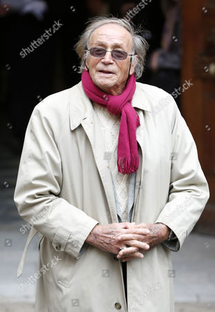 Italian Actor Venantino Venantini Arrives at the Funeral Ceremony of French Director Georges Lautner Held at the Cathedral of Sainte Reparate in Nice Southern France 30 November 2013 Georges Lautner Died Aged 87 in Paris France on 22 November 2013 France Nice