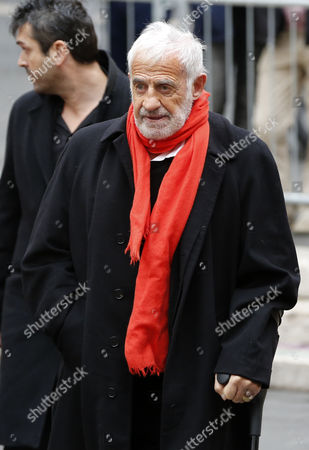 Stock Picture of French Actor Jean-paul Belmondo Arrives at the Funeral of French Director Georges Lautner Held at the Cathedral of Sainte Reparate in Nice Southern France 30 November 2013 Georges Lautner Died Aged 87 in Paris France on 22 November 2013 France Nice