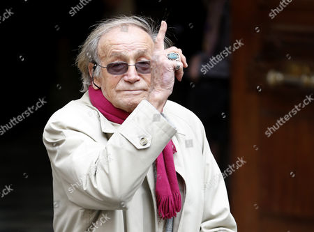 Stock Image of Italian Actor Venantino Venantini Arrives at the Funeral Ceremony of French Director Georges Lautner Held at the Cathedral of Sainte Reparate in Nice Southern France 30 November 2013 Georges Lautner Died Aged 87 in Paris France on 22 November 2013 France Nice