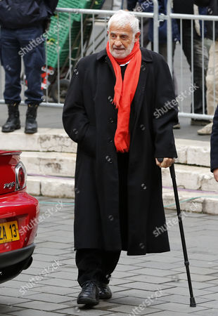 French Actor Jean-paul Belmondo Arrives at the Funeral of French Director Georges Lautner Held at the Cathedral of Sainte Reparate in Nice Southern France 30 November 2013 Georges Lautner Died Aged 87 in Paris France on 22 November 2013 France Nice