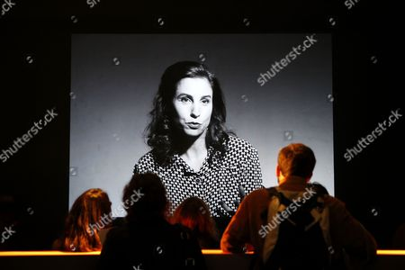 Visitors Look at a Video on Display During the Exhibition 'Francois Truffaut' at the Cinematheque in Paris France 06 October 2014 This Exhibition Opens to the Public From 08 October to 25 January 2015 France Paris