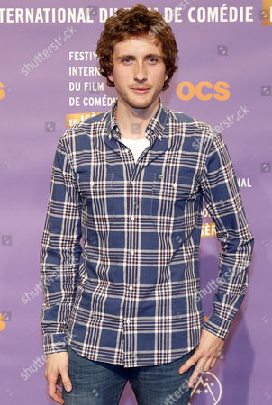 French Actor Baptiste Lecaplain Attends the Opening Ceremony of the 17th Annual International Comedy Film Festival in L'alpe D'huez France 15 January 2014 the Festival Runs From 15 to 19 January France Alpe D'huez