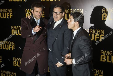 Us Actor Bradley Cooper (l) Us Film Director David O Russell (c) and French Actor Sa?d Taghmaoui (r) Pose During a Photocall at the Premiere of the Film 'American Hustle' in Paris France 03 February 2014 the Movie Won the Golden Globe Award For 'Best Motion Picture Musical Or Comedy' France Paris