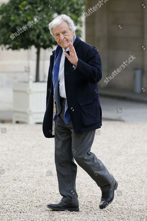 Greek-french Director Constantin Costa-gavras Arrives at the Elysee Palace to Attend a Ceremony That Decorates Former President of the Cannes Film Festival Gilles Jacob with the Grand Officier of the Legion of Honor Medal in Paris France 09 October 2014 France Paris