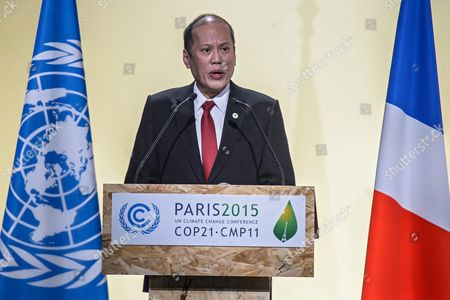 President of Philippines Benigno S Aquino Iii Delivers a Speech As He Attends Heads of States' Statements Ceremony of the Cop21 World Climate Change Conference 2015 in Le Bourget North of Paris France 30 November 2015 the 21st Conference of the Parties (cop21) is Held in Paris From 30 November to 11 December Aimed at Reaching an International Agreement to Limit Greenhouse Gas Emissions and Curtail Climate Change France Paris
