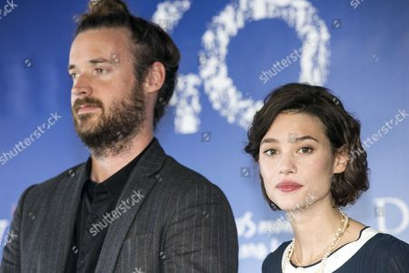 Us Director Mike Cahill (l) and French Actress Astrid Berges-frisbey (r) Pose at a Photocall For 'I Origins' During the 40th Annual Deauville American Film Festival in Deauville France 11 September 2014 the Movie is Presented in the Official Competition of the Festival That Runs From 05 to 14 September France Deauville