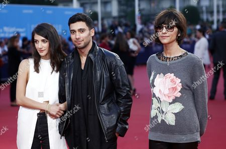 Iranian Film Director Ana Lily Amirpour (r) Us Actress Sheila Vand (l) Iranian Actor Arash Marandi (c) Arrive For the Screening of 'The Hundred-foot Journey' During the 40th Annual Deauville American Film Festival in Deauville France 06 September 2014 the Movie is Presented in the Official Competition of the Festival That Runs From 05 to 14 September France Deauville