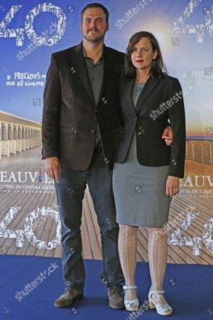 Us Film Director Jim Mickle and Us Producer Linda Moran Pose at a Photocall For 'Cold in July' During the 40th Annual Deauville American Film Festival in Deauville France 07 September 2014 the Movie is Presented in the Official Competition of the Festival That Runs From 05 to 14 September France Deauville