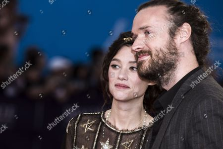 Us Director Mike Cahill (r) and French Actress Astrid Berges-frisbey Arrives For the Screening of 'The November Man' During the 40th Annual Deauville American Film Festival in Deauville France 11 September 2014 the Movie is Presented out of the Official Competition at the Festival That Runs From 05 to 14 September France Deauville