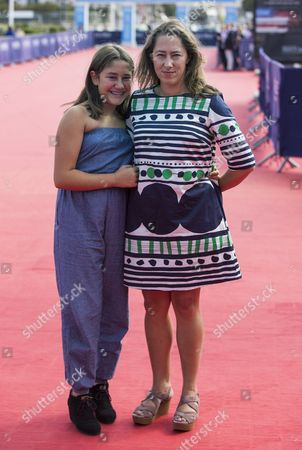 Us Actress Imogene Wolodarsky (l) and Us Director Maya Forbes (r) Arrive For the Screening of 'Infinitely Polar Bear During the 40th Annual Deauville American Film Festival in Deauville France 13 September 2014 the Movie is Presented out of Competition at the Festival That Runs From 05 to 14 September France Deauville