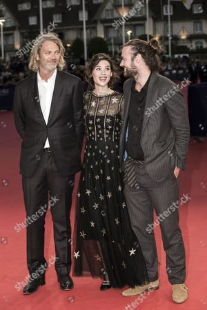 (r-l) Us Director Mike Cahill French Actress Astrid Berges-frisbey and Us Producer Hunter Gray Arrive For the Screening of 'The November Man' During the 40th Annual Deauville American Film Festival in Deauville France 11 September 2014 the Movie is Presented out of the Official Competition at the Festival That Runs From 05 to 14 September France Deauville