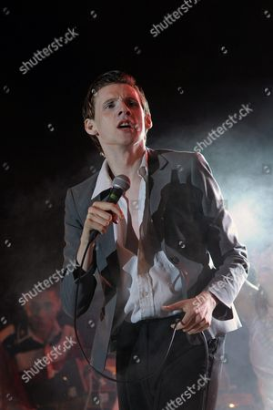 Us Band Foxygen Vocalist Sam France Performs During a Concert at the 27th Eurockeennes Festival in Belfort France 04 July 2015 the Music Festival Runs From 03 to 06 July France Belfort