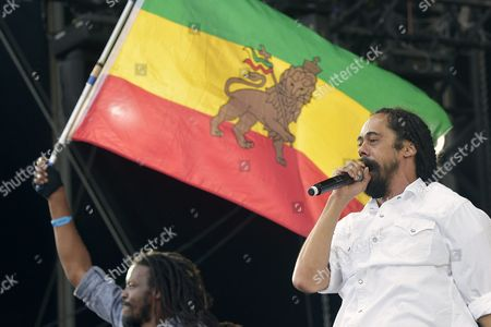 Damian 'Jr Gong' Marley (r) Performs During a Concert at the 27th Eurockeennes Festival in Belfort France 05 July 2015 the Music Festival Runs From 03 to 05 July France Belfort