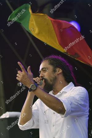 Damian 'Jr Gong' Marley Performs During a Concert at the 27th Eurockeennes Festival in Belfort France 05 July 2015 the Music Festival Runs From 03 to 05 July France Belfort