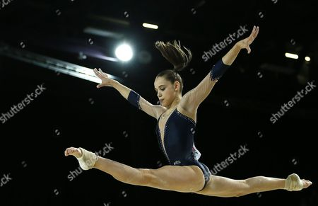French Gymnast Claire Martin Performs in the Balance Beam Competition During the Women's Apparatus Final at the European Artistic Gymnastic Championships in Montpellier France 19 April 2015 France Montpellier