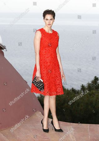 Stock Image of Us Model and Actress Emma Ferrer Granddaughter of Audrey Hepburn Attends the Presentation of the Cruise 2016 Resort Collection by Christian Dior Fashion House at the Palais Bulles in Theoule-sur-mer France 11 May 2015 Belgian Designer Raf Simons Hosts His 2016 Resort Show For Dior at Pierre Cardin's Iconic House Near Cannes Ahead of the 68th Annual Cannes Film Festival Which Will Run From 13 to 25 May France Theoule Sur Mer