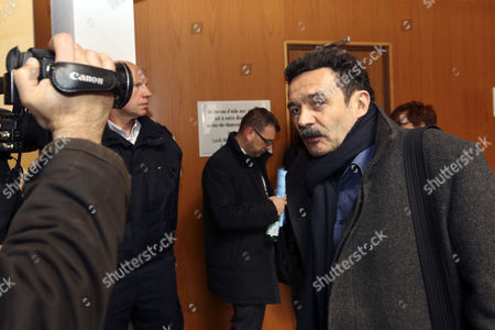 President of Mediapart Edwy Plenel Arrives During the Trial of Police Officers Sebastien Gaillemin and Stephanie Klein Over the Deaths of Two Teens in 2005 at the Criminal Court of Rennes France 16 March 2015 a Decade Later the Case Has Wound Its Way Through the French Judicial System with Sebastien Gaillemin and Stephanie Klein Facing Charges of Failing to Assist People in Danger on 27 October 2005 Bouna Traore 15 and Zyed Benna 17 in the Parisian High-rise Suburb of Clichy-sous-bois Hid in a High-voltage Electricity Station While Fleeing From the Police France Rennes