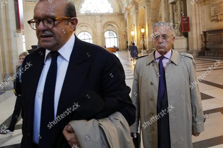 French Businessman Guy Wildenstein (r) Arrives at the Paris Justice Palace For His and His Family's Trial For Tax Evasion and Fiscal Fraud in Paris France 22 September 2016 Wildenstein is Accused of Hiding His and His Family's Fortune in Off-shore Tax Shelters France Paris