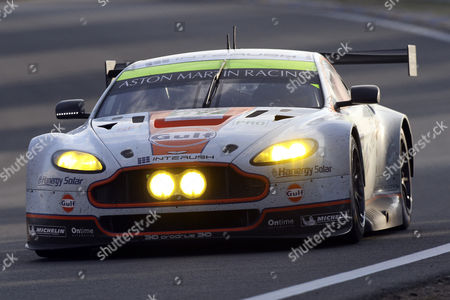 Aston Martin Racing Team in a Aston Martin Vantage V8 with Darren Turner of Great Britain Stefan Muske of Germany and Bruno Senna of Brazil Compete in the Le Mans 24 Hours Race in Le Mans France 14 June 2014 the Race Started at 3pm and is Scheduled to Finish at 3pm on 15 June France Le Mans