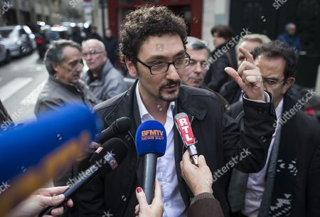 French Author David Foenkinos Speaks to Media After Winning the Renaudot Literary Prize 2014 For His Book 'Charlotte' at the Drouant Restaurant in Paris France 05 November 2014 France Paris
