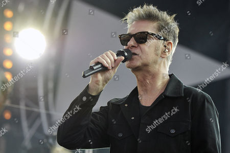 French Singer Etienne Daho Performs During a Concert at the Vieilles Charrues Festival in Carhaix France 20 July 2014 the Music Festival Runs From 17 to 20 July France Carhaix