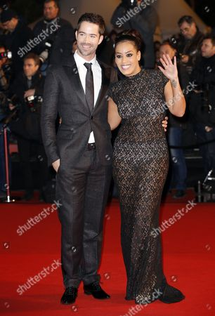 French Singers Amel Bent (r) and Emmanuel Moire Arrive to the 15th Nrj Music Awards in Cannes France 14 December 2013 France Cannes